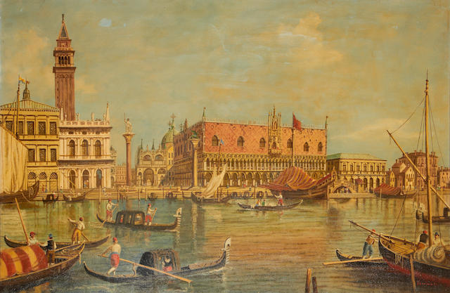 Manner of Antonio Canal, called il Canaletto The Palazzo Ducale and Campanile, Venice