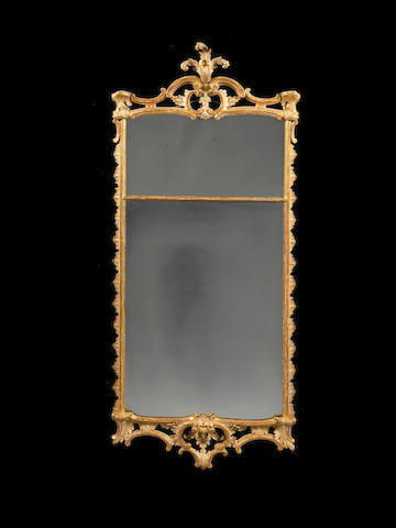 A George III carved giltwood wall mirror