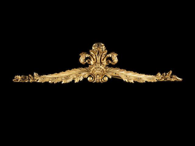 A George III carved giltwood pelmet