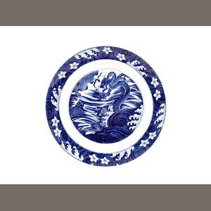 A blue and white dish, Kangxi