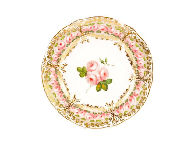 A Nantgarw plate, circa 1813-20