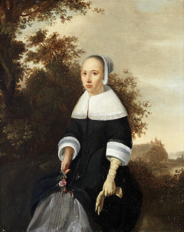 Attributed to Godaert Kamper (Dusseldorf 1614-1679 Leyden) Portrait of a young lady