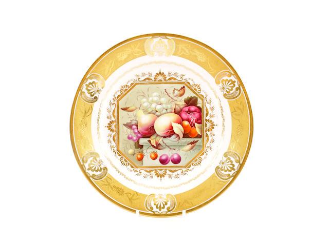 A good Derby plate, circa 1815