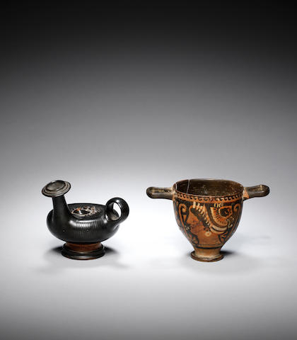 Two Greek pottery vessels 2