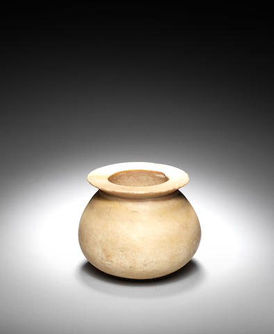 An Ancient Near Eastern indurated limestone jar