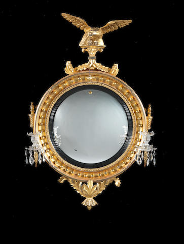 Early C19th convex Mirror