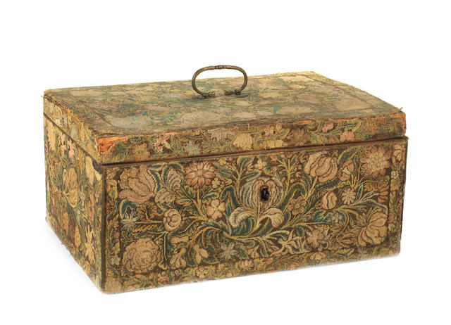 A late 17th/early 18th century needlework box