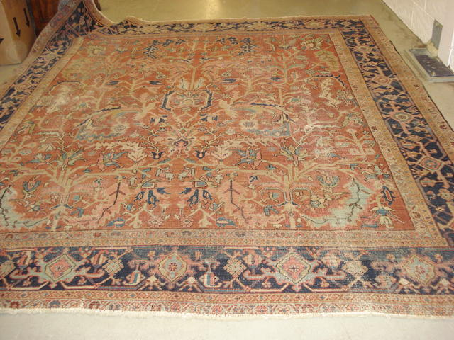 A Heriz carpet, North West Persia, 332cm x 295cm