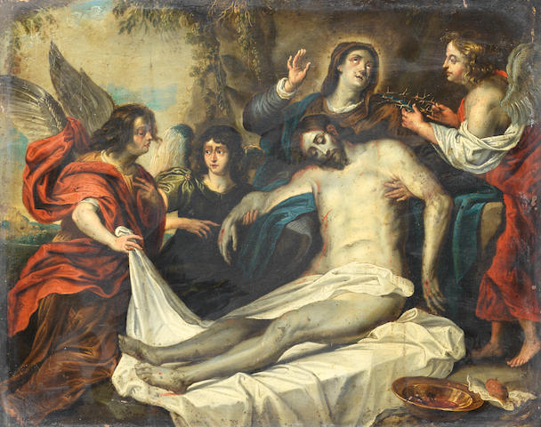 Circle of Willem van Herp (Antwerp 1614-1677) The Entombment