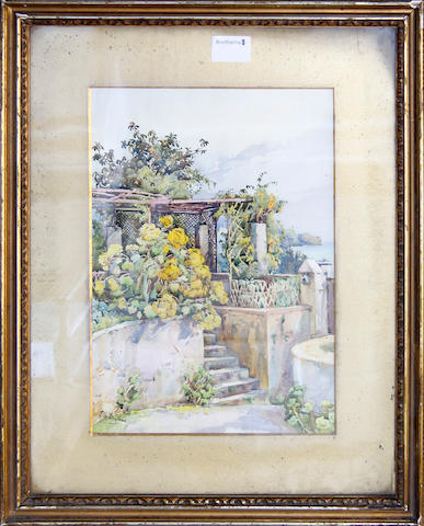 Ella du Cane (1880-1940) A mediterranean courtyard