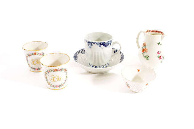 A group of porcelain, 18th century