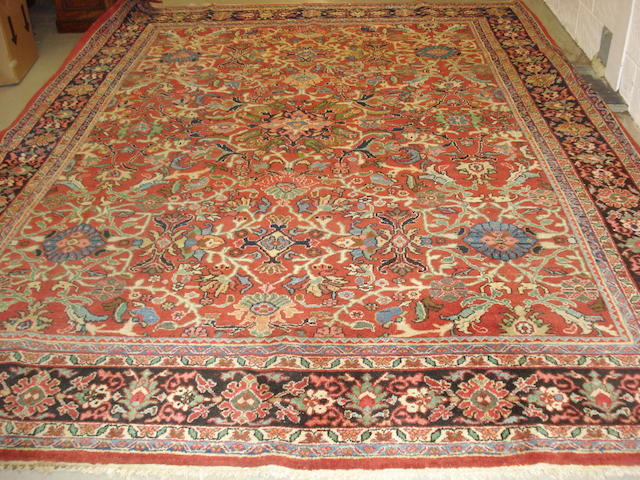 A Mahal carpet, West Persia, 386cm x 290cm