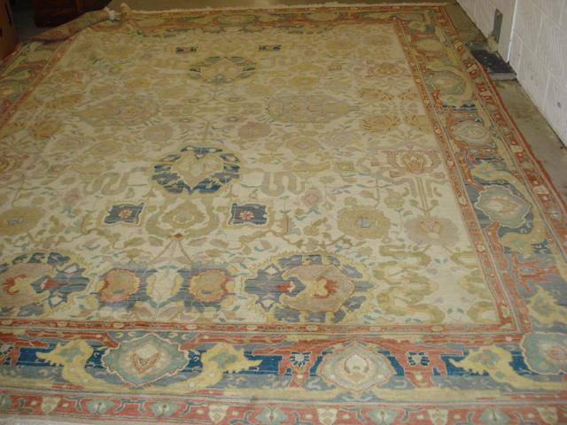 A Ziegler design carpet 378cm x 308cm