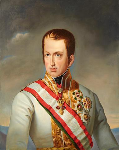Emperor Ferdinand 1 of Austria circa 1840, circle of Johann Baptiste von Lampi
