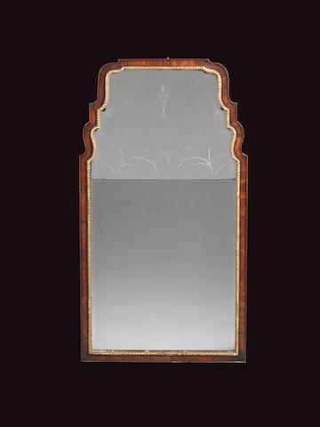 A George II mahogany and parcel gilt pier mirror