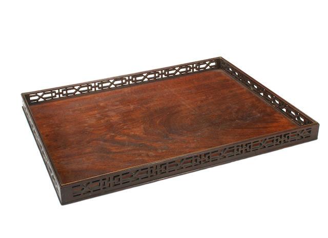 A George III mahogany tray