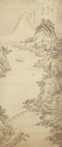 A pair of Korean paintings 19th century