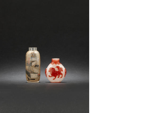 Two glass snuff bottle