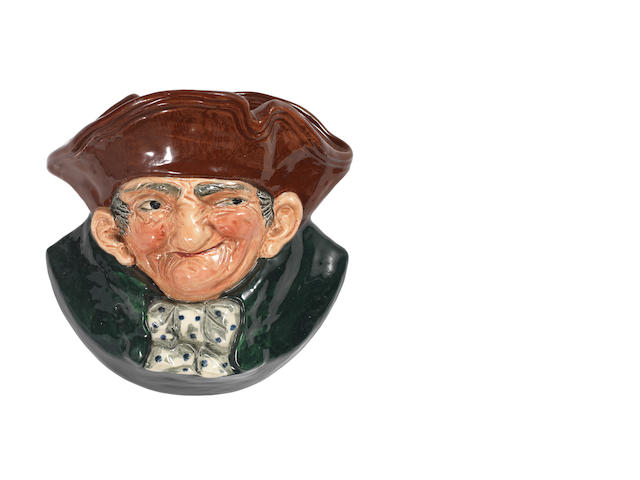 Doulton Burslem 'Old Charley' a Wall Pocket, D6110 1940-1960
