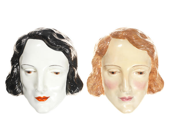 Doulton Burslem Two 'Marlene Dietrich' Face Masks, HN 1660 and HN 1591 1933-40