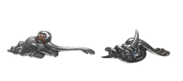 Seven pairs of menuki 18th to 19th century