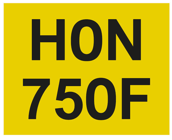 Registration Number 'HON 750F',