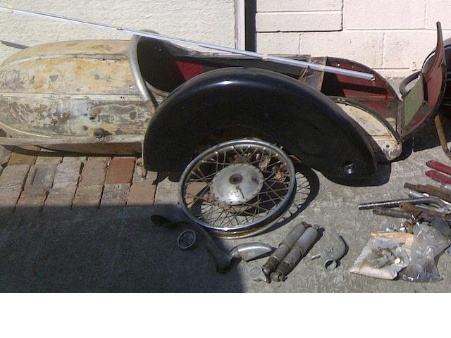 A Steib S501 sidecar for restoration,