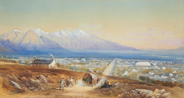 General Walter Fane (British, 1828-1885) View of Salt lake City