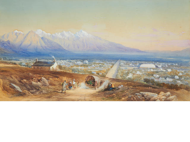 Walter, General Fane (British, 1828-1885) View of Salt lake City