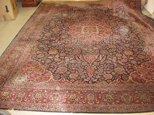 A Kashan carpet, Central Persia, 377cm x 275cm
