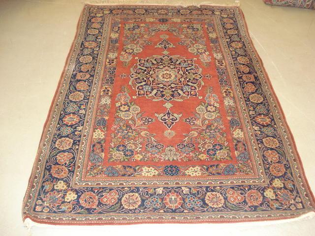 A Kashan rug, Central Persia, 204cm x 135cm