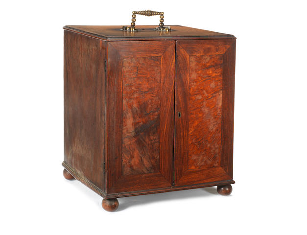 A George IV padouk and specimen wood collector's cabinet