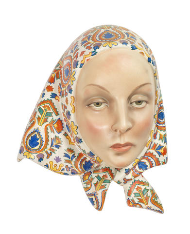 Lenci  a Female Head Wall Mask, 1937