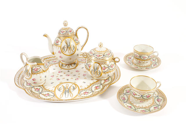 A French porcelain cabaret service, early 20th century