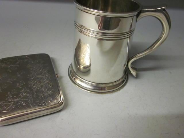 A silver half pint mug,  Chester 1912,   (2)