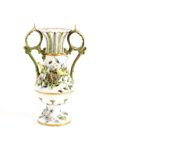 A Spode vase, circa 1825