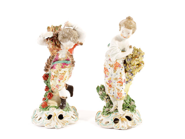 A pair of Chelsea Derby figures, circa 1775