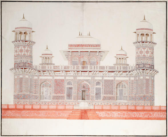 The tomb of I'timad-ud-Daulah Company School, Delhi or Agra, circa 1816