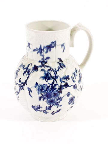 A Worcester Dutch jug, circa 1760-70