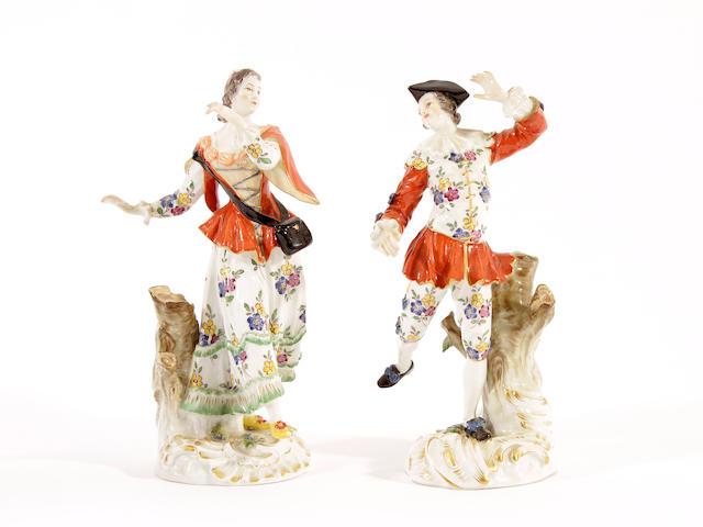 Two Meissen figures of dancers, 20th century