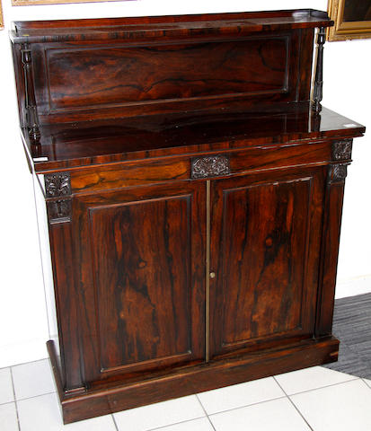 A William 1V rosewood chiffonier