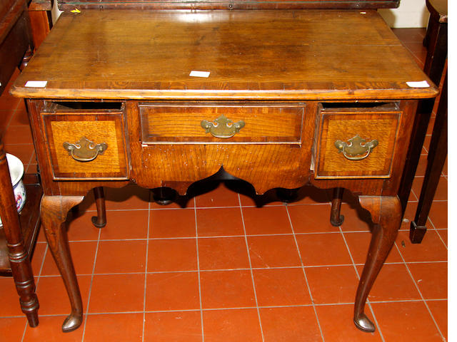 A George 111 country elm lowboy