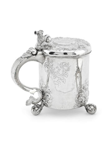 A Norwegian peg tankard probably by Johannes Johanesen Reimers the elder of Bergen, circa 1690