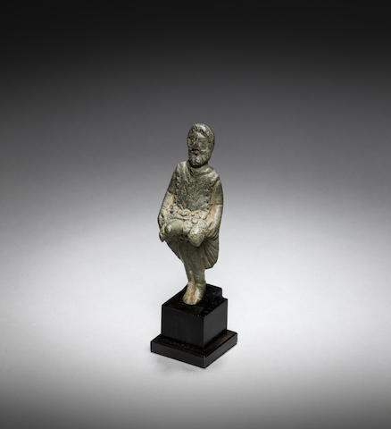A roman bronze votive phallic figure