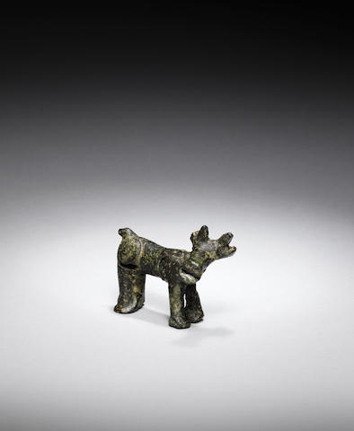 An Ancient Near Eastern bronze goat
