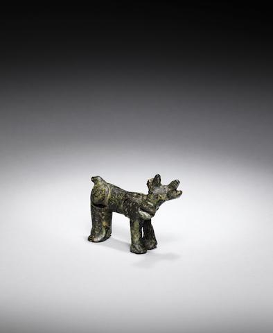 A bronze animal