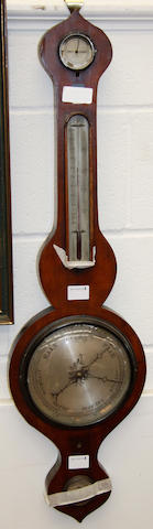A 19th Century mahogany wheel barometer,
