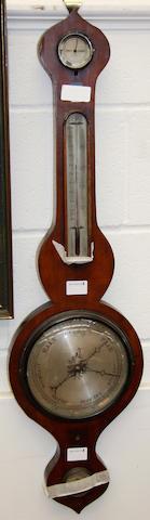 A 19th Century mahogany wheel barometer,