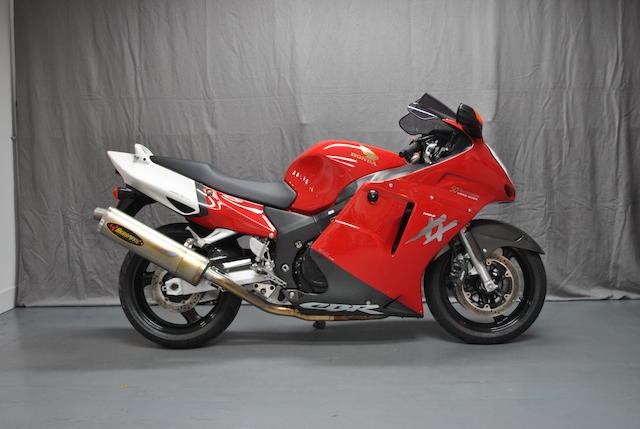 1,180 miles from new,1999 Honda CBR1200XX Super Blackbird 50th Anniversary Limited Edition Frame no. JH25C35A1WM110020 Engine no. SC35E3005106