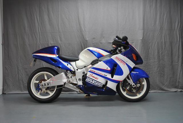 The ex-Holeshot Racing, Jarrod 'Jack' Frost, UK Land Speed Record-holding,1999 Suzuki GSX1300R Hayabusa Turbo  Frame no. JS1A1111100100677 Engine no. W701-104208